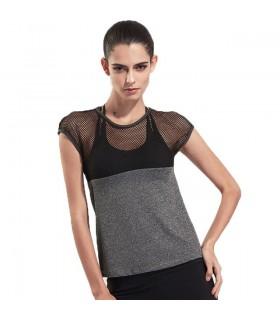 Mesh-T-Shirt schnell trocknend Fitness