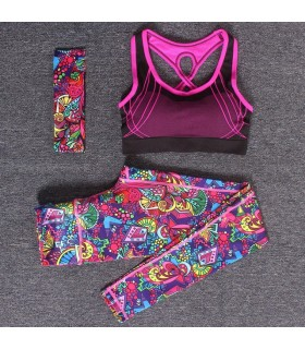 Women workout colored sportswear
