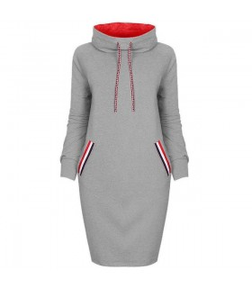 Sporty hoodie dress