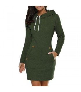Casual sporty hoodie pockets dress
