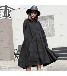 Black loose casual dress