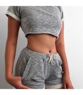Sexy kurz geschnittener Trainingsanzug aus Baumwolle