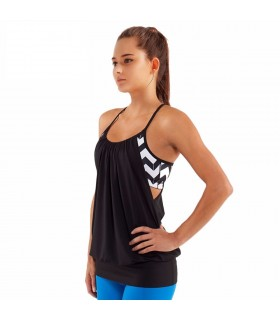 Women loose fitness sleeveless tank top