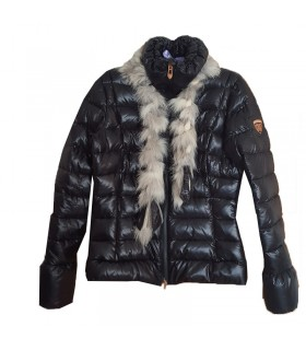 Quality down  thin jacket with fur and wool Rossignol