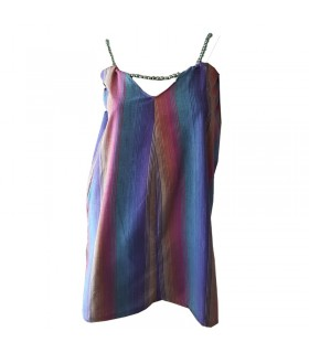 Regenbogen Perlen Kleid