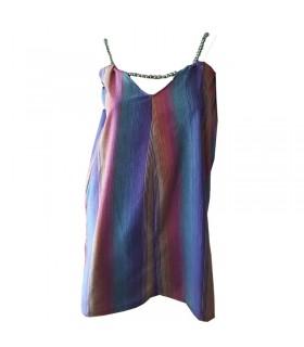 Vestito con perline color arcobaleno
