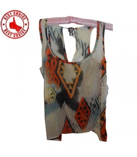 T-shirt tribal en mousseline de soie