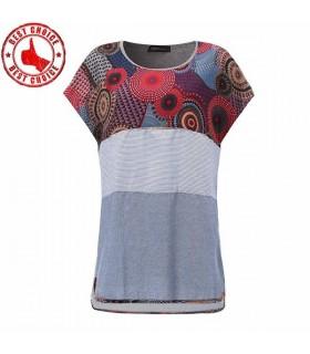 T-shirt in lino colorato