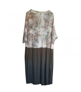 Casual soft print jersey dress