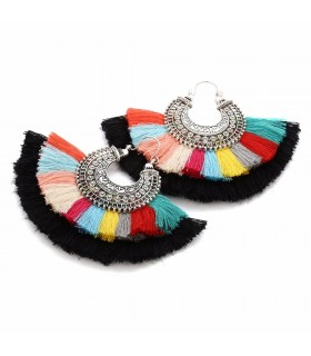 Drop colorful tassel earrings Coachella