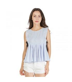 Nœud de chemise à carreaux rayé sexy