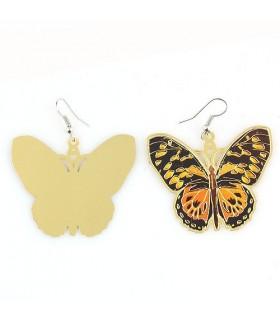 Boucles d'oreilles papillon monarque