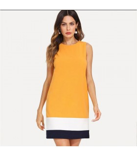 Mustard colored office dress