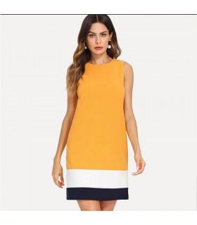 Vestito da ufficio color senape