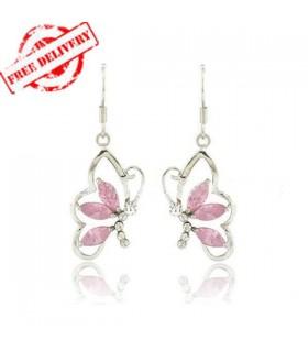 Half butterfly sparkle earrings