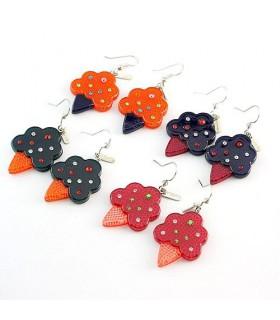Modern style icecream earrings