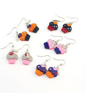 Modern style muffin earrings