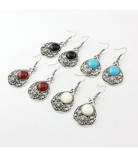 Elegant retro agate earrings