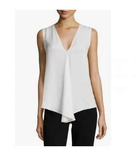 Simple silk white top