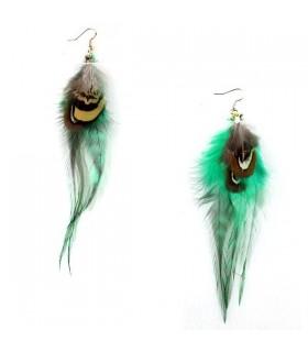 Boucles d'oreilles en plumes vogue
