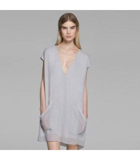 Georgette sheer casual silk dress