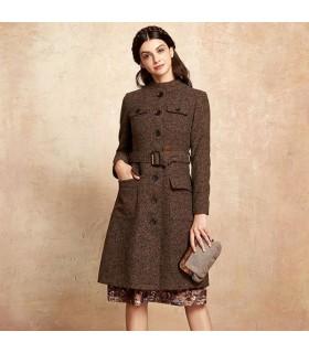 Boutons élégants manteau marron