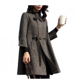 Karo cloak coat