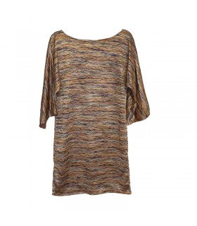 Zig Zag metallic stripe knitted dress