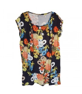 Robe Happy Flower oversize en coton et soie