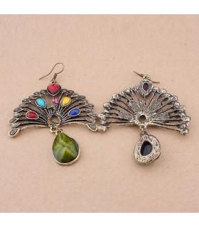Sensational retro ancient resin earrings