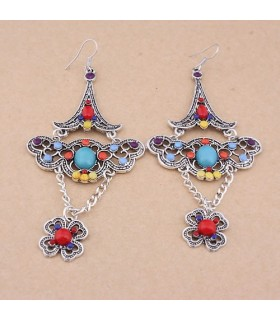 Vintage colored personality earrings