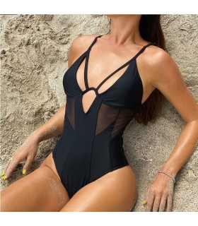 Black bathing suit monokini