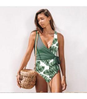 Marine grün trendige volle Badeanzug