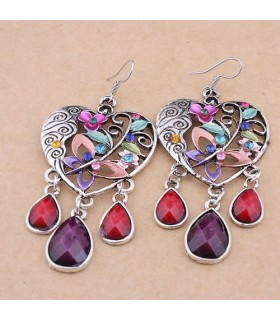 Retro bohemian dangle earrings