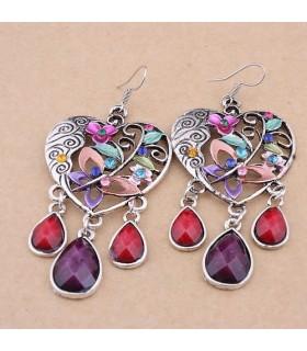 Retro bohemian dangle earrings