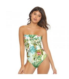 Une seule pièce sexy bikini ouvert floral