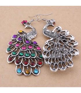 Vintage orecchini pavone