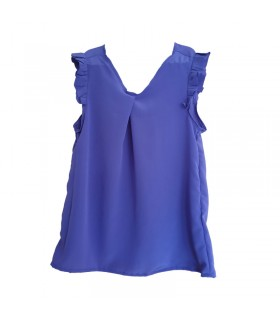Silk sleeveless top blue