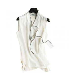 Structural  silk white top