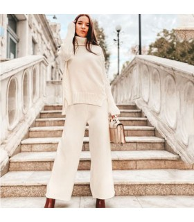 Turtleneck two piece set top and pants warm winther