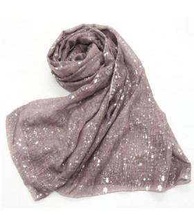 Glitter viscose shimmer grey scarf