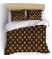 Brand duvet satin cotton luxury cover bed sheet brown