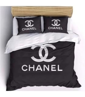 Housse de couette de luxe en coton satiné de marque Drap de lit noir