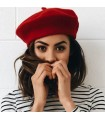 Berretto francese in lana artist rosso