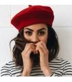 Französische rote Künstler Wollmütze