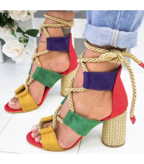 Multicolor straps sandals