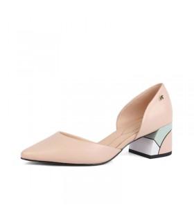 Cuir sexy chaussures géométriques