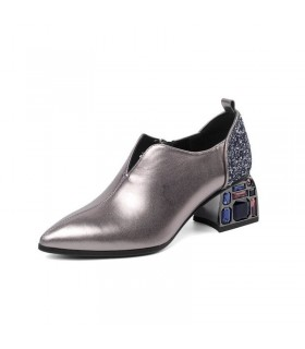 Chaussures chic en strass pour dame