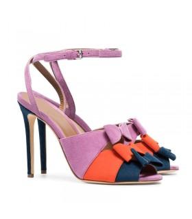Mode chaussures peep de couleur
