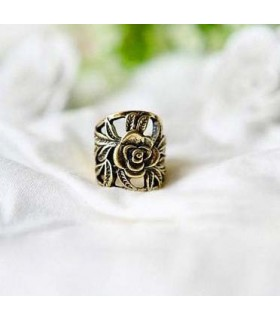 Vintage Ring mit Rosenmotiv